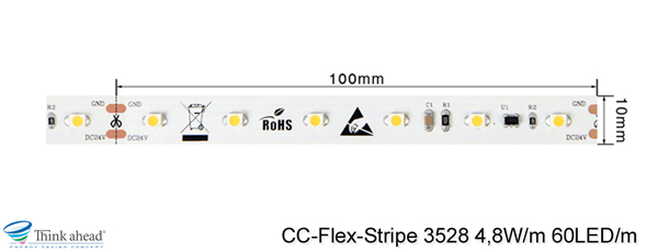 3528 4,8W/m CC-LED-Stripe Cut