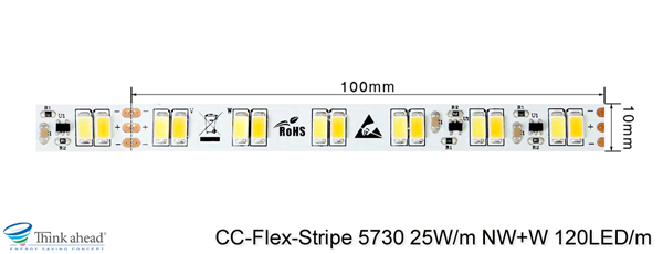 5730 25W/m NW+W CC-LED-Stripe Cut
